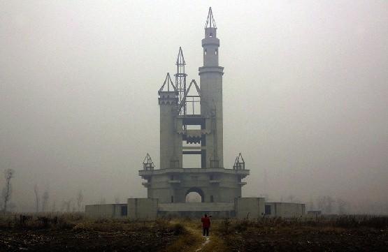 Opuszczony park rozrywki w Chinach