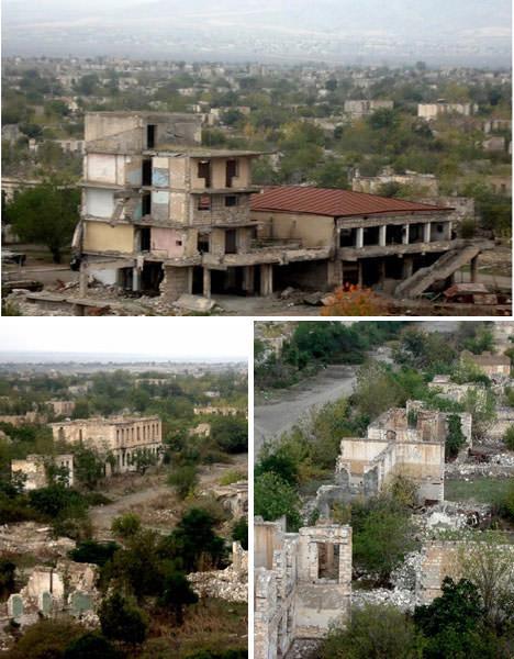 Agdam opuszczone miasto