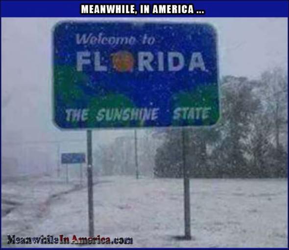 Zaśnieżona Floryda