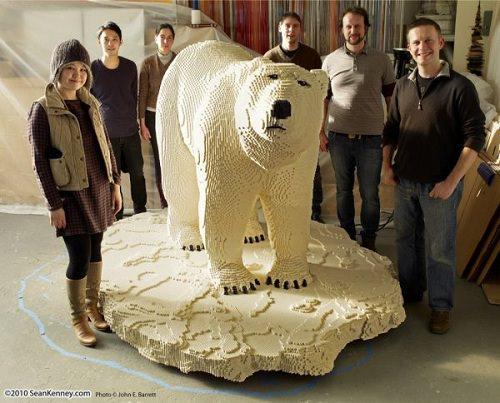 Miś Polarny z LEGO