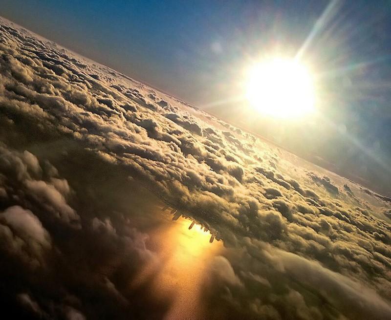 Widok jeziora michigan w chicago