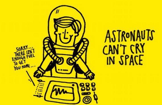 astronauci nie placza