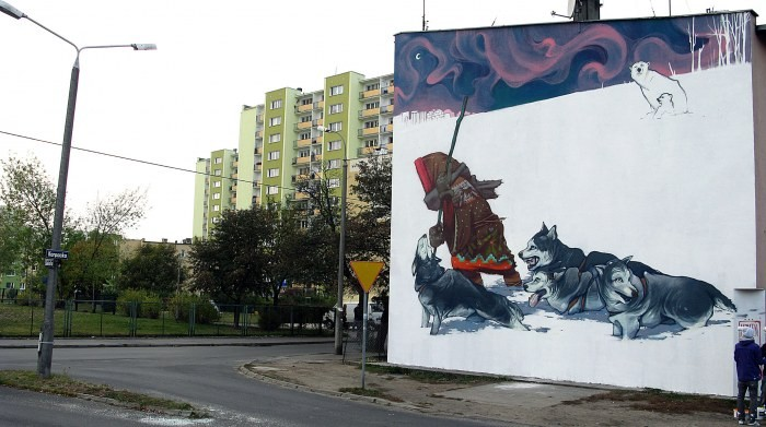 mural eskimo bydgoszcz