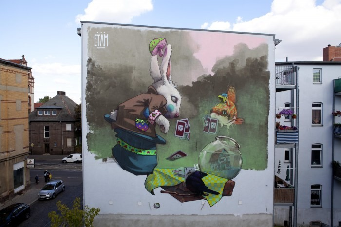 mural makao halle niemcy