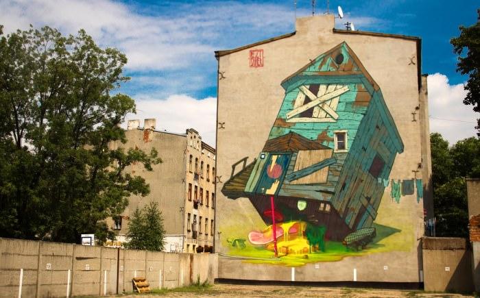 mural tramphouse łódź