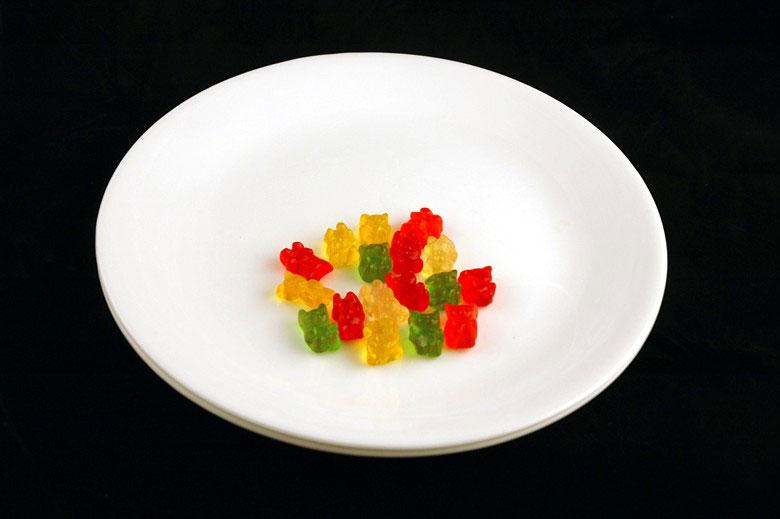 jak wygląda 200 kalorii - żelki