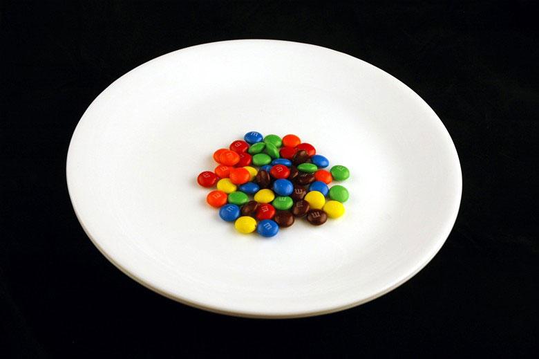 jak wygląda 200 kalorii - M&M's