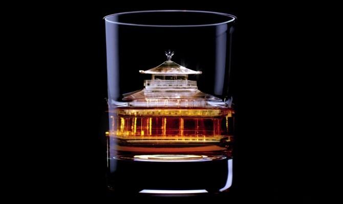 Świątynia Zen w Kioto kostki lodu 3d