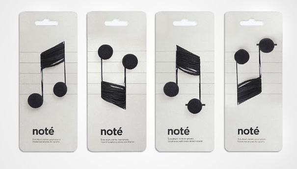 niezwykłe opakowania słuchawki note