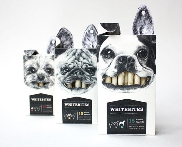 niezwykłe opakowania przekąski dla psów