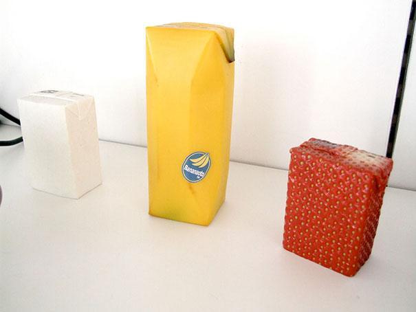 niezwykłe opakowania soki w kartonach