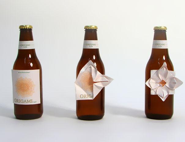 niezwykła butelka piwa z origami