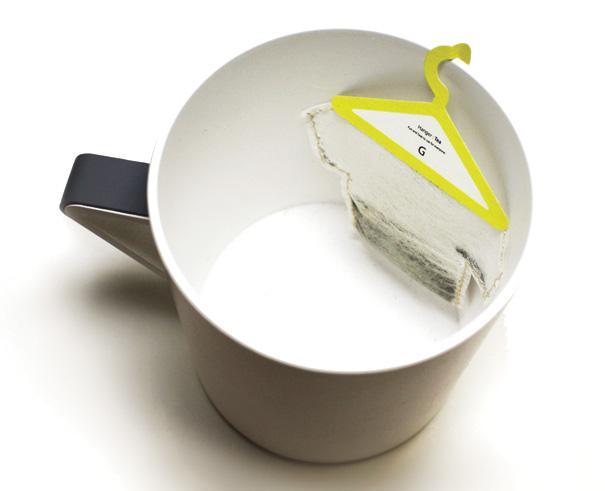 niezwykłe opakowanie - herbata z wieszakiem