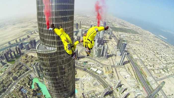 skydive dubaj skok z najwyższego budynku świata