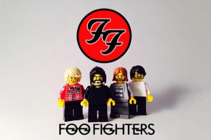 Foo Fighters z Lego