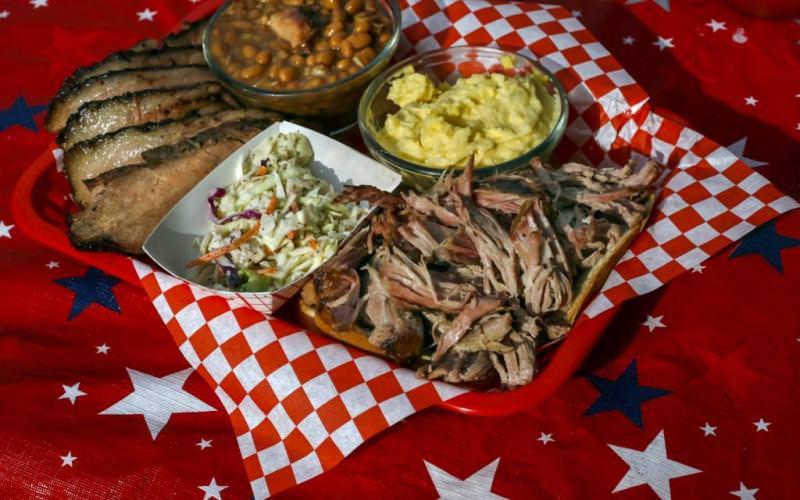 Barbecue amerykańskie jedzenie
