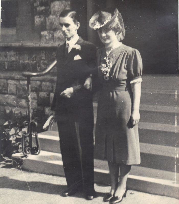 Państwo Gardiner w dniu ślubu