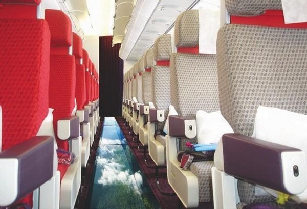 airbus ze szklaną podłogą