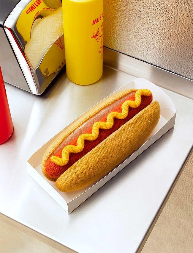 hot dog z włóczki