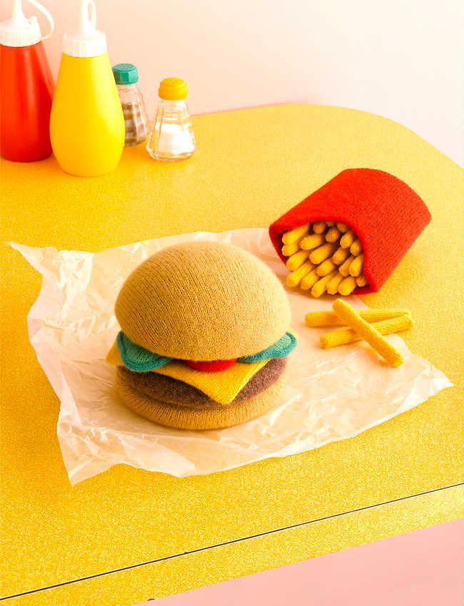 burger z włóczki