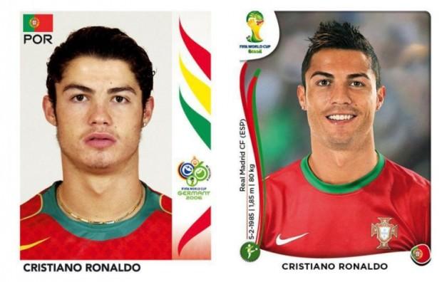 Cristiano Ronaldo kiedyś i dzisiaj