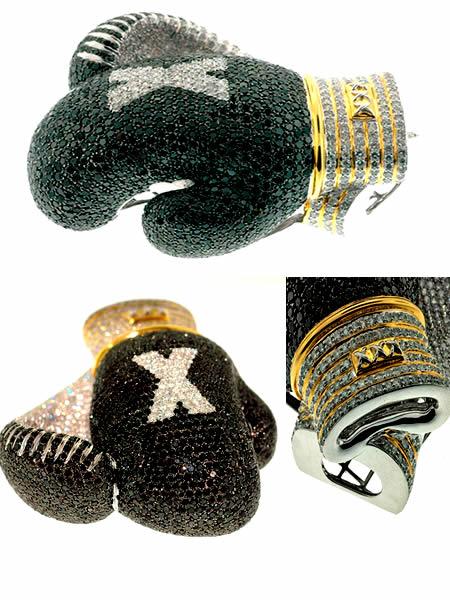 diamentowe rękawice bokserskie