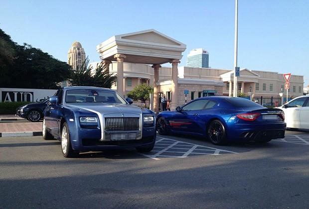 Rolls Royce Ghost and Maserati GranTurismo MC Stradale