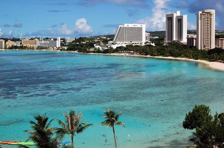Zatoka Tumon na wyspie Guam