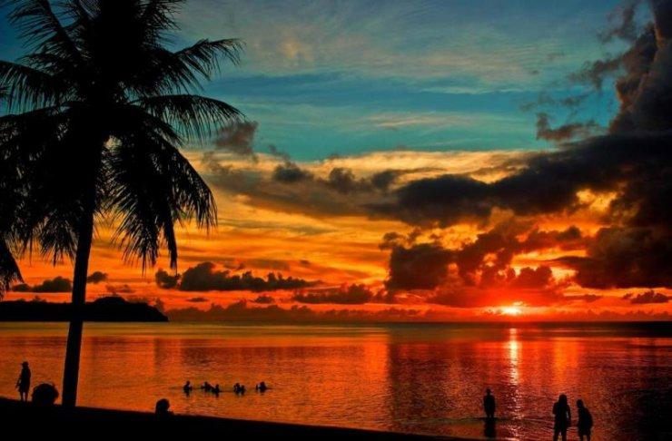 Guam zachód słońca