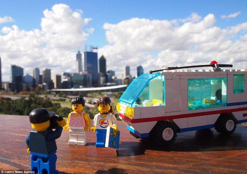 mali pordóżnicy z LEGO
