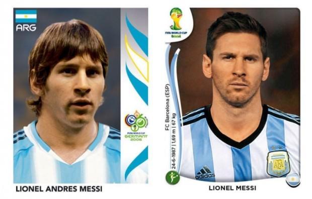 Leo Messi kiedyś i dzisiaj
