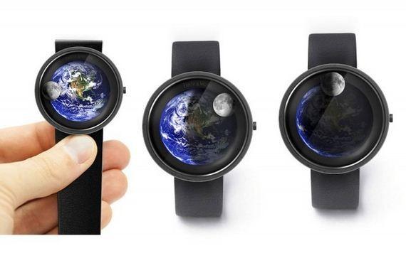 fajne zegarki - Earth & Moon