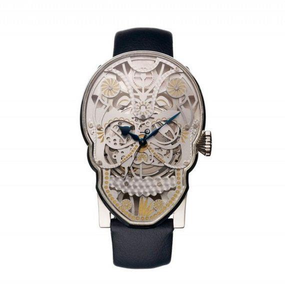 fajne zegarki - czaszka