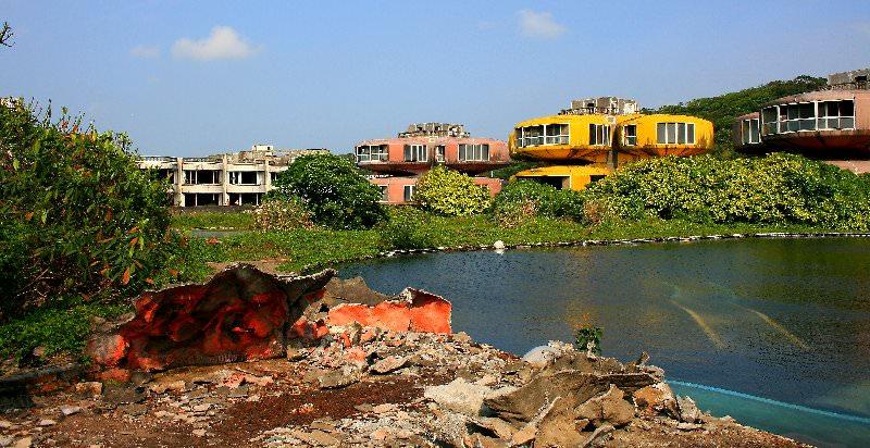 opuszczone osiedle Sanzhi