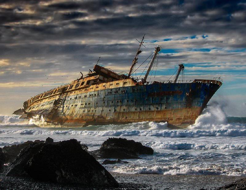 Wrak statku SS America