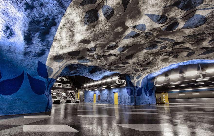 Niesamowite Metro w Sztokholmie