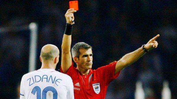 Zidane czerwona kartka