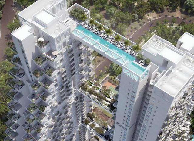Basen na 38 piętrze Singapur