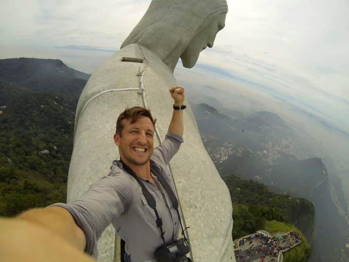 Ekstremalne selfie - pomnik Chrystusa w Rio de Janeiro