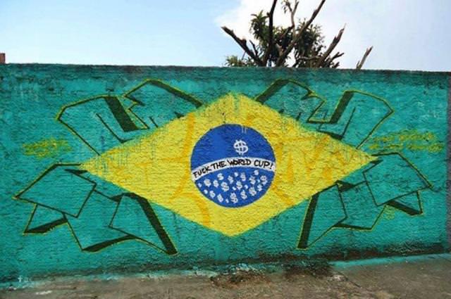 Street art przeciwko mistrzostwom świata