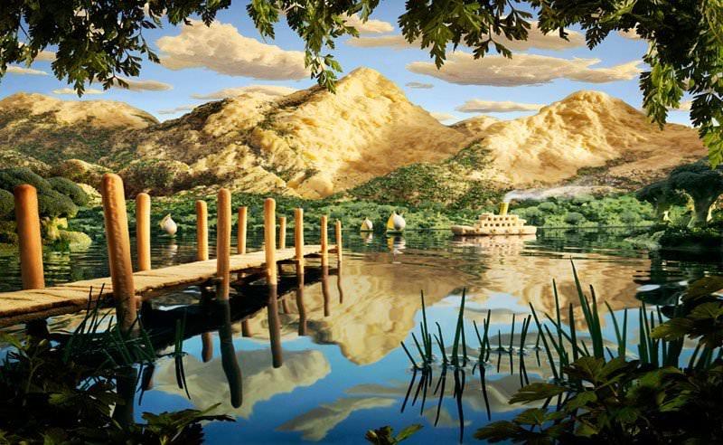 Jadalne krajobrazy na zdjęciach