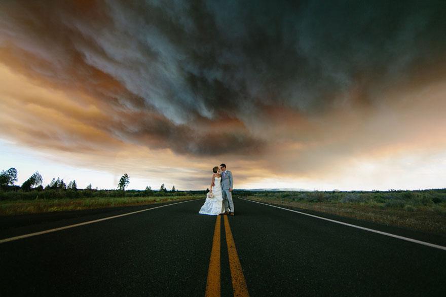 Nietypowa sesja ślubna