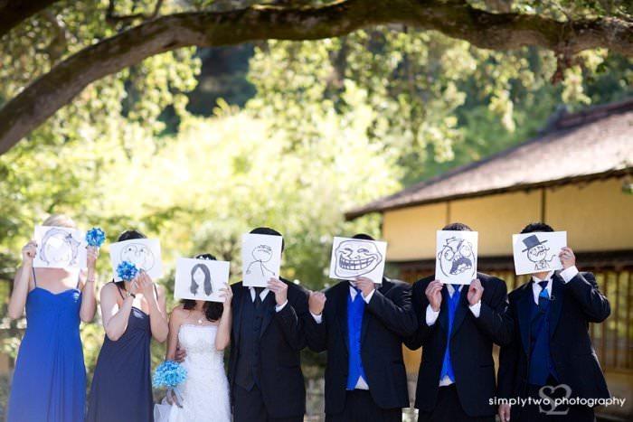 nietypowe zdjęcia ślubne