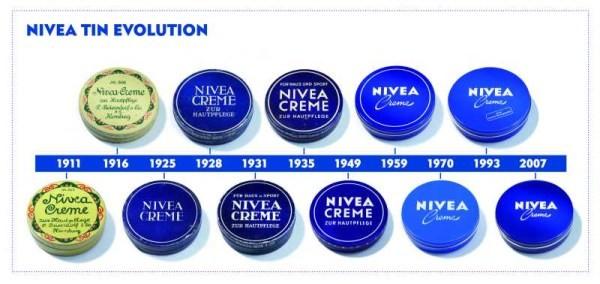 Opakowania kiedyś i dzisiaj -  krem NIVEA