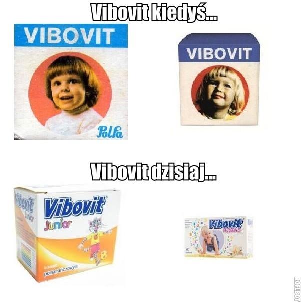 Opakowania kiedyś i dzisiaj -  Vibovit