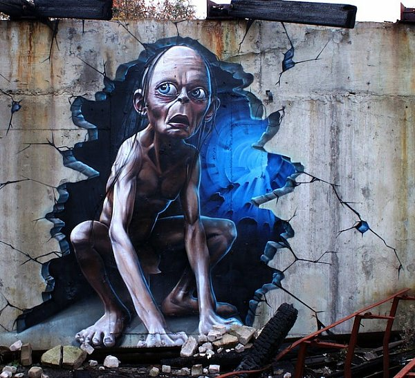 Street art 3D - uliczne dzieła sztuki