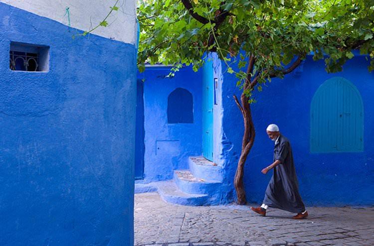 Szafszawan niebieskie miasto w Maroku