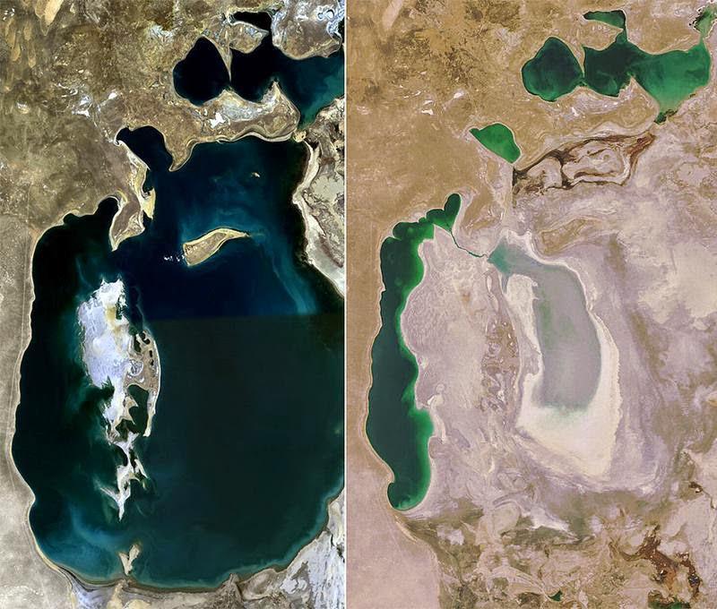Jezioro Aralskie 1989 i 2008