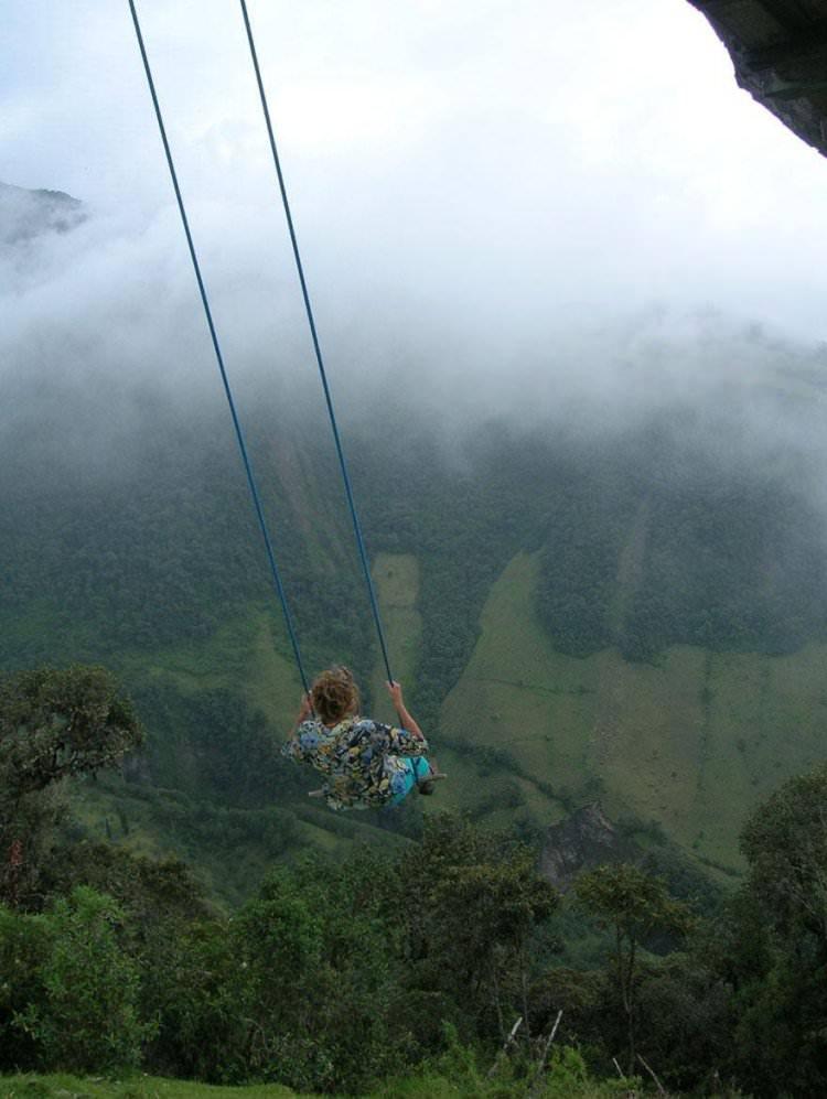 ekstremalna huśtawka w Ekwadorze