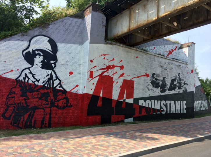 mural Powstanie Warszawskie Świdnica